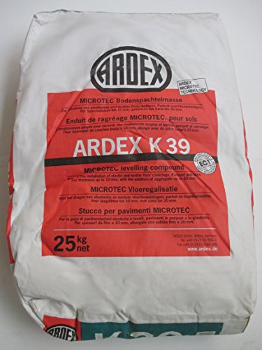 ARDEX K39 MICROTEC Bodenspachtelmasse 25kg Auf Zement-Basis.