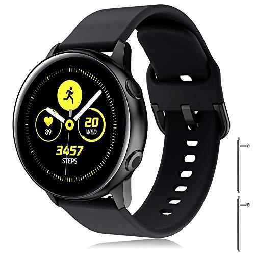 YASPARK Cinturino Galaxy Watch Active2 40mm 44mm, Cinturini di Ricambio per Polso Silicone 20mm Braccialetto per Galaxy Watch Active 40mm/Galaxy Watch 42mm/Gear S2 Classic/Gear Sport/Vivomove HR