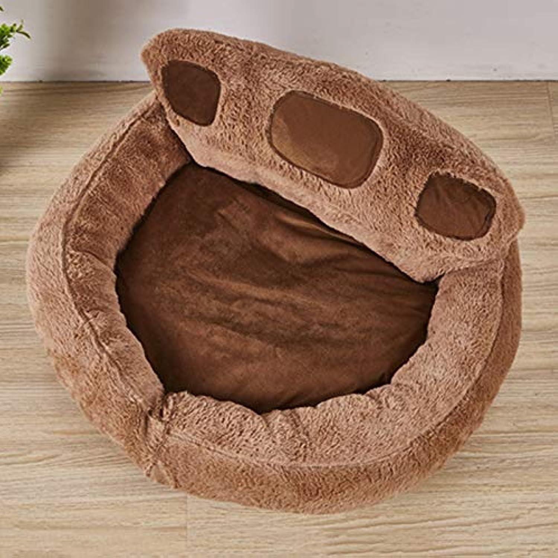 Pet Dog Bed Cute Wool High Back Design Puppy Puppy Nest Warm Soft Breathable Mattress