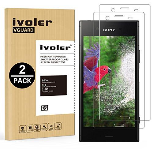 ivoler [Pack de 2] Verre Trempé pour Sony Xperia XZ1, Film Protection en Verre trempé écran Protecteur vitre