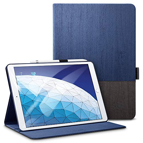 ESR Capa Fólio Urban Premium para iPad Air 3 2019, [Porta-lápis Apple], Design de capa de livro, Suporte de visualização em vários ângulos, Smart Cover Auto Sleep/Wake, Knight
