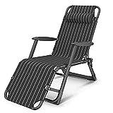Tumbona plegable Tumbona tumbona tumbona de gravedad cero ajustable silla de jardín silla reclinable...