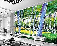 壁の壁画の壁紙の壁の装飾の写真の壁紙3dの壁紙の壁画の寝室のための手描きの小さな新鮮な木-300x210cm