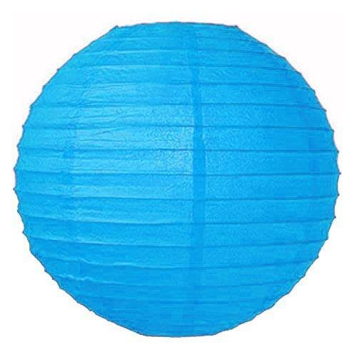 """Perfectmaze 20 Piece Round Chinese Paper Lantern for Wedding Party Engagement Decoration 10 Sizes / Colors+ (8"""" (Inch), Turquoise)"""
