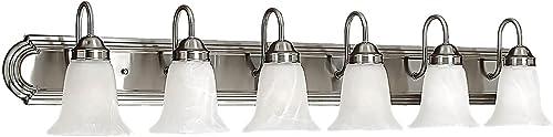 2021 Millennium Lighting 486-SN 6-Light Bath Vanity discount online sale in Satin Nickel outlet sale