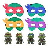 Udekit Tortuga Ninja Juguetes Máscaras De Fieltro Suministros De Fiesta Favores De Cosplay De Superhéroe (Máscaras Con Juguetes)
