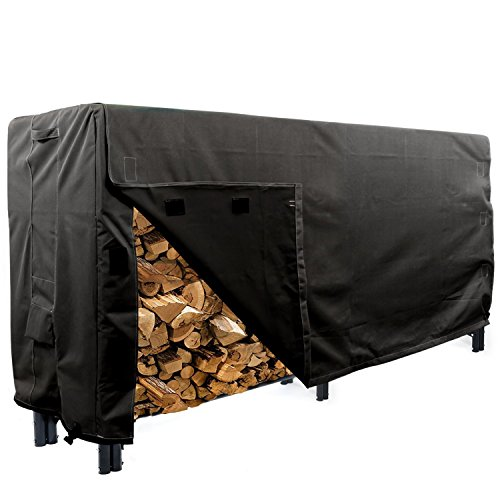 Amazing Deal KHOMO GEAR - Heavy Duty Log Rack Cover - 8' - Panther Series - Black