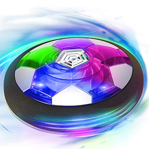 Camlinbo Kids Toys, Hover Soccer Ball Air Soccer Ball, Soccer Ball Indoor Floating Soccer with LED Light and Foam Bumper, Holiday Toys Gift for Boys Girls Toddler Age 3-16 (No AA Batteries Needed)