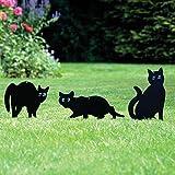 PestExpel 3er Pack Metall Katzen (Vogel, Tiere,Fox, Pest) Scarers, Abwehr, Nager, Abschrecken Garten
