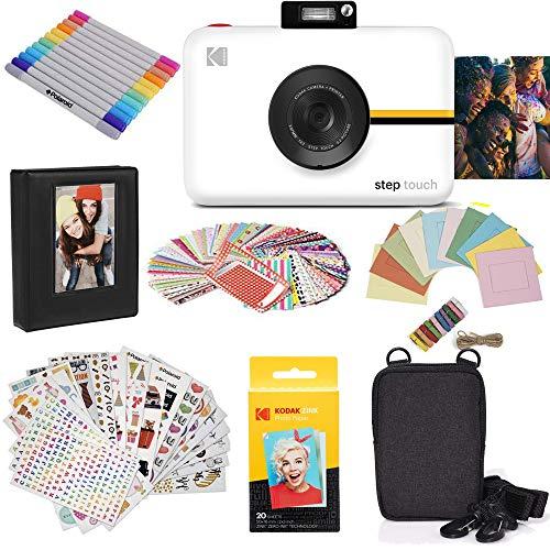 """KODAK Step Touch - Cámara Digital de 13 MP e Impresora instantánea con Pantalla de 3.5"""" (vídeo de Alta definición), Color Blanco"""