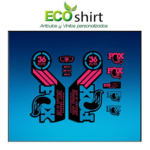 Ecoshirt D8-VUJ9-YZKB Autocollants Fork Fox 36 Performance Elite 2016 Am106 Autocollants Fourche Gabel Fourche Bleu Rose
