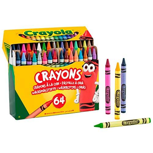 BricoLoco. 64 Ceras de colores para dibujar y pintar. Recambio, repuesto y recarga Súper Ceraboli (1 ud)