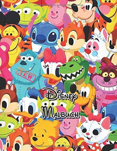 Disney Malbuch: Disney Malbuch für Kinder & Erwachsene, Enthält +50 hochwertige süße und einfache Bilder von Disney , Eine schöne Sammlung von ... stundenlangen Spaß !! (Disney-Aktivitätsbuch)