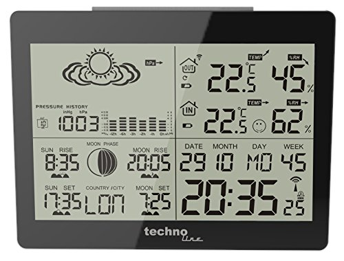 Technoline GARNI WS 6760 estación metereológica - Estación meteorológica (Negro,...