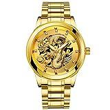 腕時計 メンズ 安い超薄型 おしゃれ Dafanet レディース メンズ腕時計 電波ソーラー デジタル ビジネス シンプルデザイン スポーツスタイル 男性腕時計 ファッションクォーツ時計 カジュアル 男女兼用 機械式 カップル時計 誕生日 プレゼント (02ゴールド)