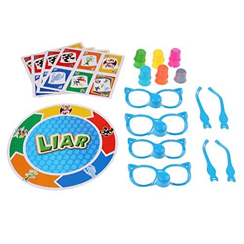 T TOOYFUL Stretch The Truth Brettspiel Unterscheiden Sie Das Lügner Entwicklungsspielzeug Für Kinder