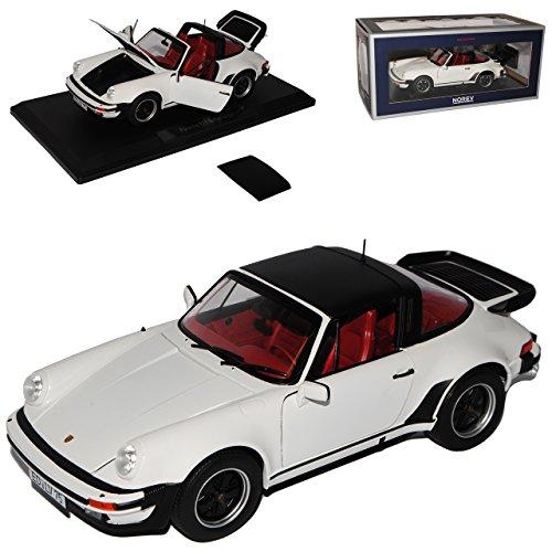 Norev Porsche 911 Turbo Targa Weiss G-Modell 1973-1989 1/18 Modell Auto mit individiuellem Wunschkennzeichen