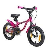 LÖWENRAD Bicicleta Infantil para niños y niñas a Partir de 3-4 años   Bici 14' Pulgadas con Frenos   Berry