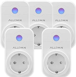 Smart stopcontact, draadloos, compatibel met Amazon Alexa (Echo, Echo Dot), stem/afstandsbediening/timer, app-besturing, s...