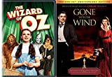 Classic Family Films 2-Movie Bundle: Wizard of Oz & Gone With the Wind (2-Disc 70th Anniversary Edition) 2-Movie Bundle