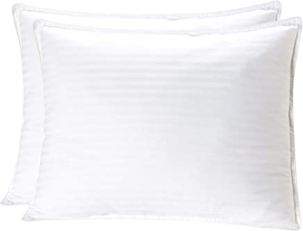 Mellanni Plush Gel-Fiber Filled Pillows 100% Cotton Cases, 3D Hollow Siliconized Material Retains Shape for Cooling Comfort, NO Flattening! (2-Pack King Size)