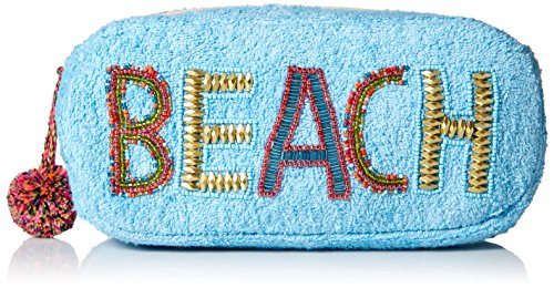 'ale by alessandra Women's Beach Baby Plush Cotton Terry Cloth Clutch/Bikini Bag, aqua, One Size