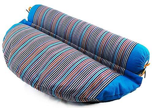 SAPURA Yogakissen 2in1 - Meditationskissen mit Yoga Rolle aus Baumwolle und Buchweizen