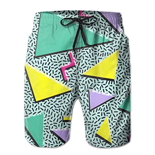 Men's Vintage 80S 90S Fashion Style Design Beach Surfing Board Shorts Swim Trunks PantsSize S