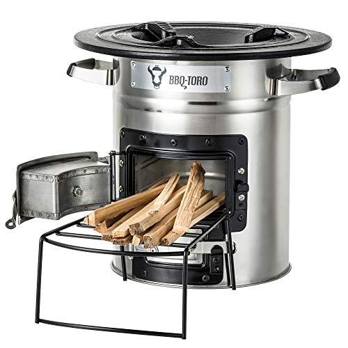 BBQ-Toro Raketenofen Rakete #2 I Rocket Stove für Dutch Oven, Grillpfannen und vieles mehr (Edelstahl)