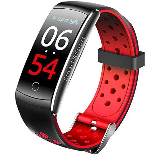 Reloj Inteligente de Fitness de Gama Alta Pantalla a Color Q8s Pulsera Inteligente Presión Arterial Monitoreo del Ritmo cardíaco Podómetro Pulsera Deportiva de Salud Impermeable