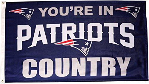 Fremont Die NFL New England Patriots Flagge mit Ösen, 90 x 150 cm, in Country