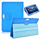 DETUOSI Android Tablet 10.1 inch Leather Case Compatible with Yuntab 10.1 (K107/K17),Victbing 10,YELLYOUTH10.1,Wecool 10.1,KUBI 10.1,Winsing 10,LLLCCORP 10,Plum 10,Lectrus 10,Hoozo 10#Dark Blue