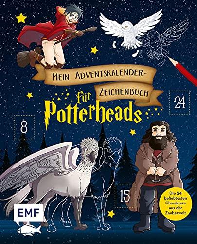 Mein Adventskalender-Zeichenbuch: Weihnachten für Potterheads: Die 24 beliebtesten Charaktere aus der Zauberwelt – Mit perforierten Seiten zum Auftrennen