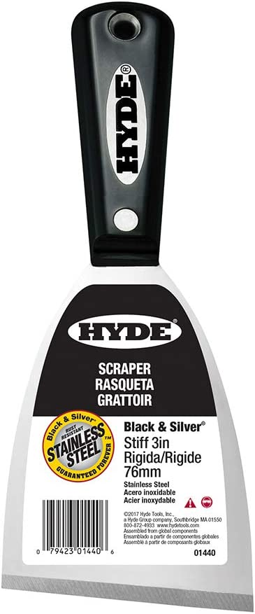 Hyde Putty Knife Stiff New product!! 3 in. 2 3-1 01440 Columbus Mall W L