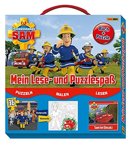 Feuerwehrmann Sam: Mein Lese- und Puzzlespaß: Buch + Puzzle im Koffer