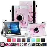 NAUC Tablet Hülle für Wortmann Terra PAD 1005 Tasche Schutzhülle Cover Hülle 360 Drehbar Kunst-Leder, Farben:Motiv 1