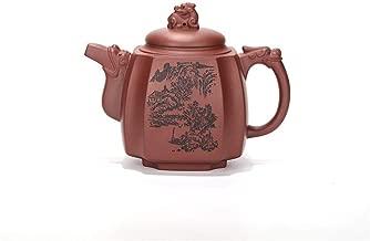 Teapot Quartet Dragon Statue Tea Party Goods Ore Purple Clay Quartet Drink And Full Manual JFYCUICAN (Color : Purple mud)