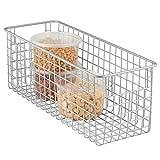 mDesign Organizer Cucina – Profondo portaoggetti Multiuso – Cestino Metallico Multiuso Ideale per Il Bagno, la Cucina, Il Garage e la cameretta – Argento