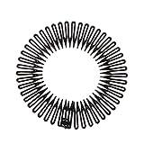 S-TROUBLE 5 Unids/Lote Lindo Plástico Círculo Completo Estiramiento Peine de Pelo Flexible Dientes Diadema Banda para el Cabello Clip