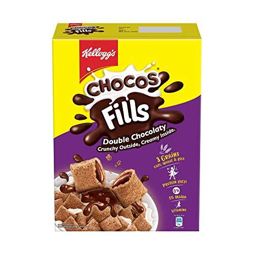 Kellogg's Chocos Fills   Double Chocolaty  Multigrain   High in Protein   0% Maida   High in B Vitamins   Anytime Snack  250g