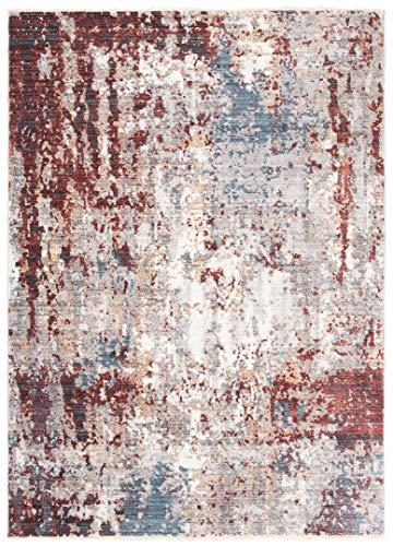 Jupiter - Alfombra moderna de calidad, degradada y brillante, para salón, dormitorio, salón, efecto carving rojo, marrón pardo (3292 L. Grey, 200 x 300 cm)