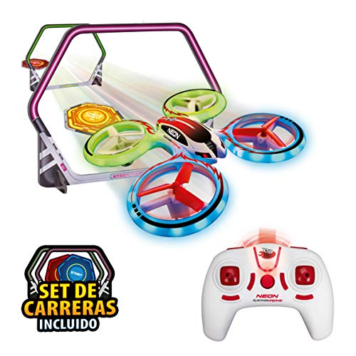 World Brands-Neon Racing (Xtrem Raiders) Mini Carreras Juguete Regalo para niños, Nano Drone, Color Verde XT280745