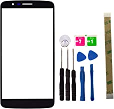 Replacement Screen Repair Front Outer Top Glass Lens Cover for LG G Stylo LS770 H634 Mobile Phone Parts with Adhesive Tools Kit (NO LCD and Touch digitizer)