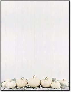 Sage Pumpkins Autumn Letterhead Paper - 80 Sheets - for Invitations, Flyers, Letters