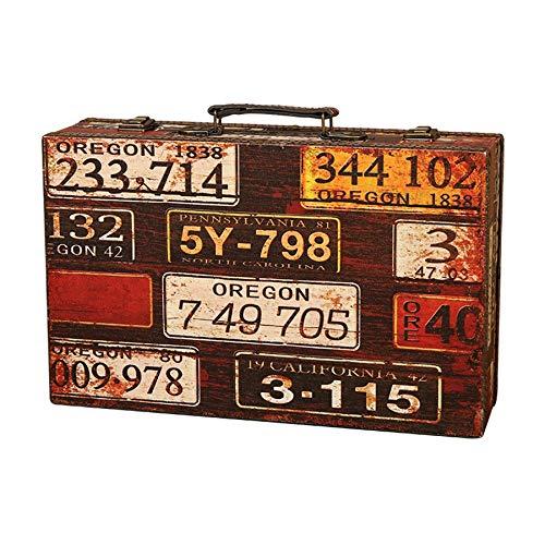 YanYun Peque?A Caja de Cajuela de Sellos Retro Caja del Tesoro para Guardar Joyas, ColeccióN de Cartas del Tesoro, Caja de Regalo, Regalos y DecoracióN del Hogar 1306 MatríCula
