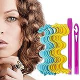 Faletony 36 rulos mágicos en espiral, set de rizos ondulados para hacer tú mismo, sin calor, con ganchos de estilismo, sin calor, para niñas y mujeres