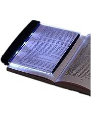 LED-pappersljus, LED-läsning ljus lampa bräda med avtagbart sidklämma, ögonskydd bok nattlampa för nattläsning