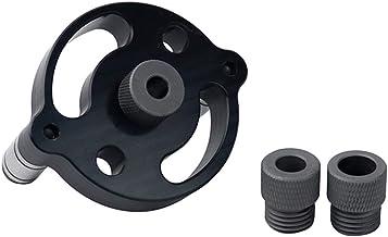 Dowel Master, 6/8 / 10mm Vertical Pocket Hole Jig Puncher de perforación Kit de guía de taladro autocentrante de madera Plantilla de localizador de perforadora para herramientas de carpintería