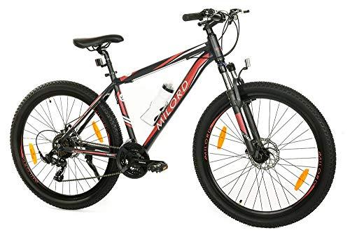 Milord. MTB - Mountain Bike Rahmen - Fahrrad - Viking - 21 Gang - Schwarz Rot - 27.5 Zoll