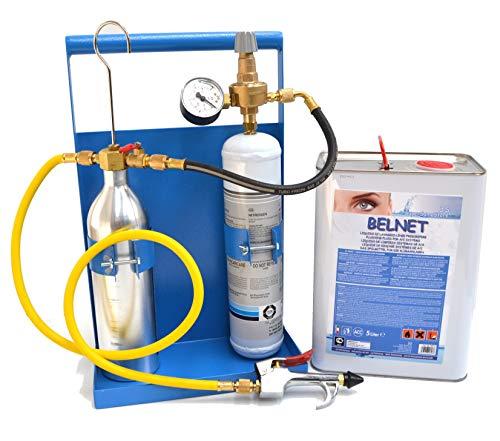 Kit lavaggio impianto refrigerazione condizionamento con azoto e 5 Lt di detergente - bombola di azoto 1Lt e riduttore compresi